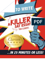 How to Write a Killer Sat Essay in 25 Minutes