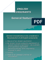 General Features of English Consonants - Place and Manner of Articulation 2