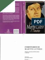 1 Timoteo Comentario Martin Lutero