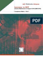Annexure 2.1 Compliance Matrix