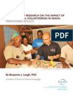 Participatory Research on the Contributions of International Volunteerism in Kenya Final