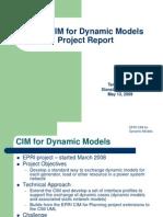 EPRI CIM for Dynamic Models Project Report 051309