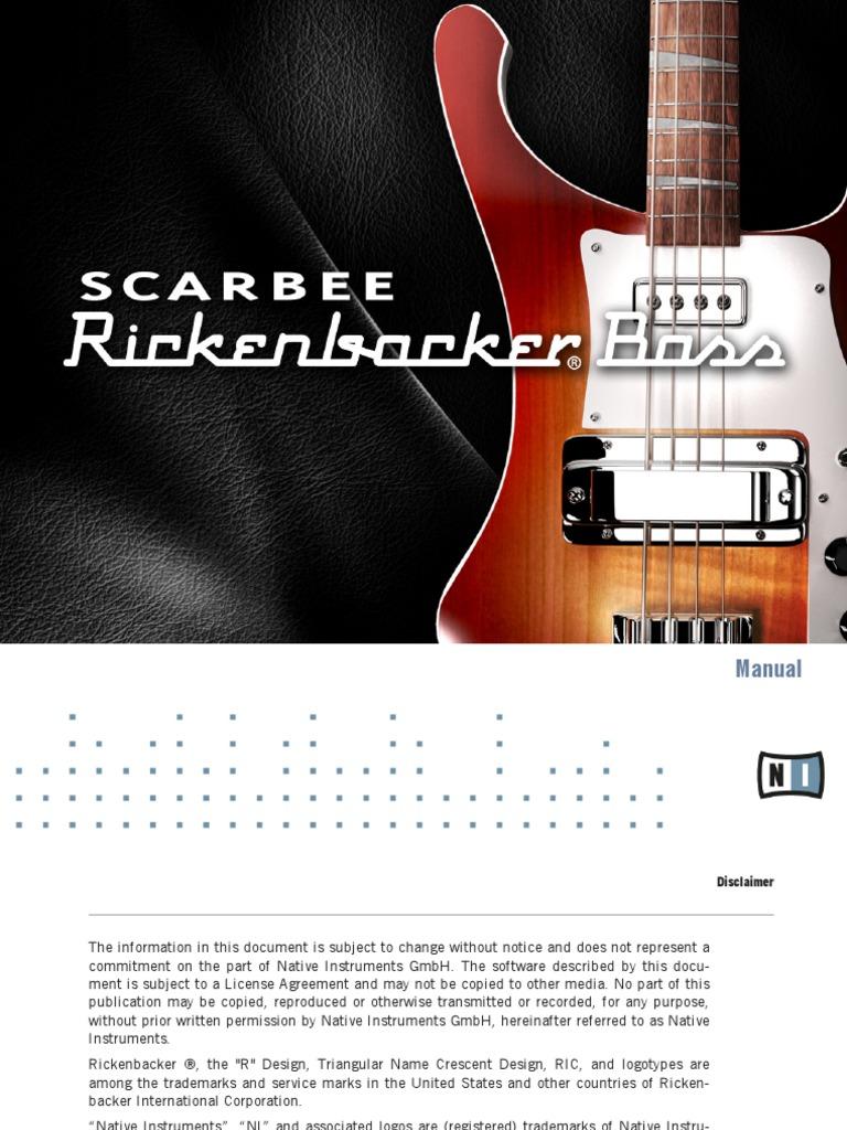Scarbee Rickenbacker Bass Manual English | Bass Guitar | Tempo