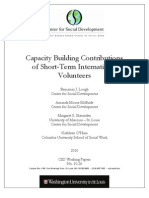 Capacity Building Contributions of Short-Term InternationalVolunteers