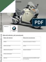 Manual de Intrucciones Bmw k 1200 Gt