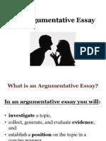 Su 13 the Argumentative Essay