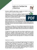 Aspectos Sobre La Calidad de Electricidad