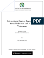 International Service Perspectives from Weltwärts and ICYE Volunteers