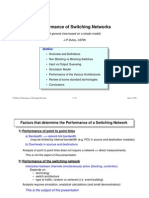 Performance of Switching Networks
