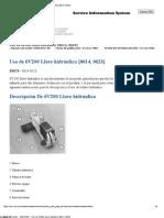 HABILIDAD N°9 - SMHS7657 - Uso de 6V200 Llave hidráulica {0614, 0623}