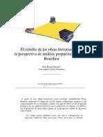 El estudio de las obras literarias desde la teoría de Bordieu