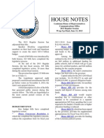 2013 House Notes Final Wrap Up