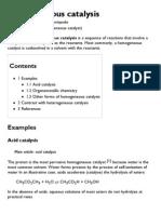 Homogeneous Catalysis - Wikipedia, The Free Encyclopedia