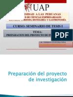 Preparacion Del Proyecto de Investigacion