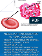 Anemia Por Padecimientos No Hematologicos