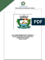 Lei Complementar Municipal n 046-2011 - Institui o Codigo Tributario Do Mun. de Aparecida de Goiania-GO