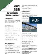 Circuit 2009 - Programme