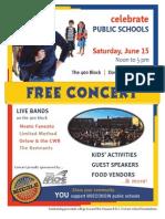Free Concert for Public Schools 2013