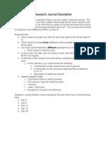 Research Journal Description