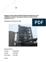 Monitoring Report WHRB cement plant