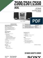 Sony Cfd z500 z501 z550 Service Manual