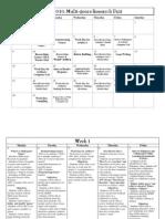 MGRP Calendar
