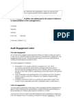 Audit Engagement Letter Far