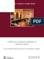 La RSE de Las Empresas Española en América Latina