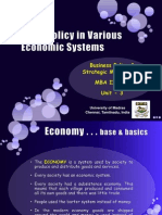 Business Policy in different economic systems