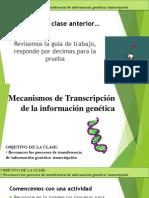 Mecanismos de Transcripción de la información genética