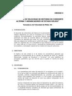 """VARIADORES DE VELOCIDAD DE MOTORES DE CORRIENTE ALTERNA Y ARRANCADORES DE ESTADO SÓLIDO"""""""