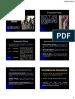 Tipos de evaluaciones físicas