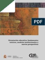 Orientación educativa Fundamentos teóricos modelos institucionales y nuevas perspectivas