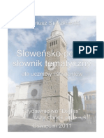 Dariusz Sieczkowski - Słoweńsko-polski słownik tematyczny dla uczniów i studentów