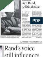 Ayn Rand Article - LA Times