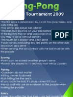 Ping Pong Rules Poster