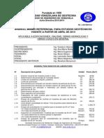 Aranceles Minimos Para Estudios Geotecnicos 2013