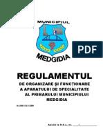 Regulament de Organizare Si Functionare