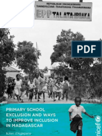 PRIMARY SCHOOL EXCLUSION AND WAYS TO IMPROVE INCLUSION IN MADAGASCAR (UNICEF - 2012)