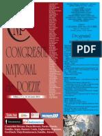 Afis Congresul National de Poezie 2013