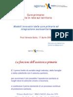 Mariadonata Bellentani, responsabile organizzazione servizi sanitari di Agenas, Agenzia nazionale per i servizi sanitari regionali (file modelli cure primarie...)