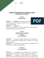 Normativo de Adminitracion Academica Del Cunoc