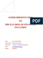 The Illussion of Financial Inclusion