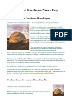 Geodesic Dome Greenhouse Plans For Diy Projects