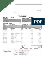 Invoice T01200