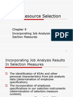 CH 9 Incorporating Job Analysis Results R&S