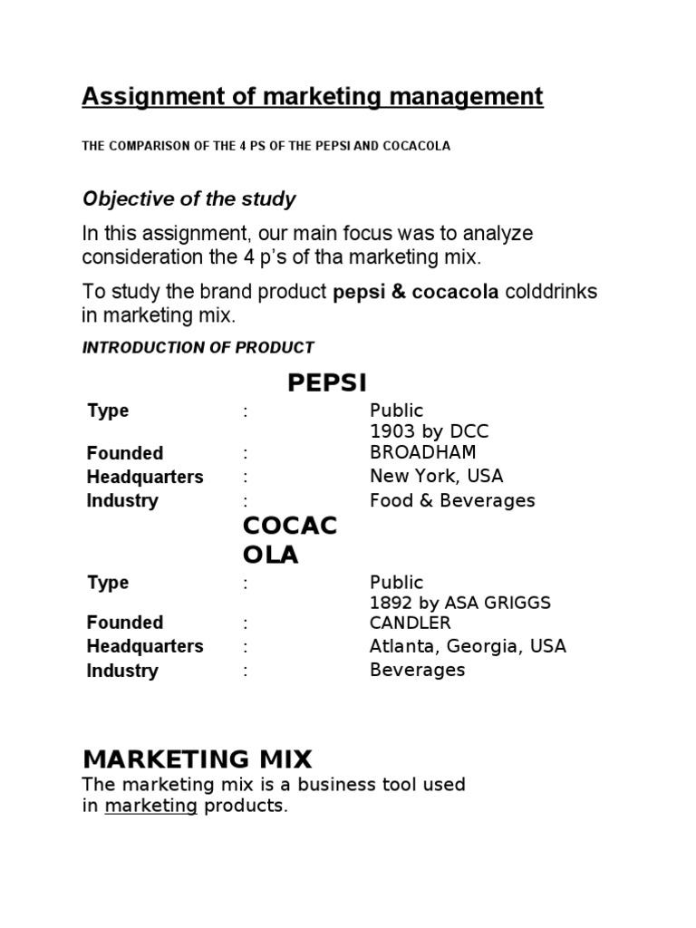 4 Ps of the Pepsi and Cocacola | Coca Cola | Pepsi