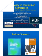 Pregnancy in Carriers of Haemophilia