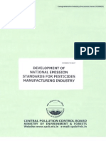 Development of National Emission Standards for Pesticides Manufacturing Industry