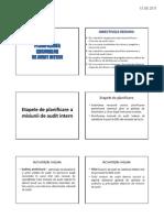Planificarea Misiunilor de Audit Intern
